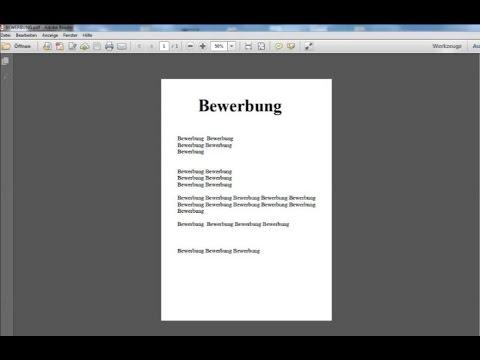 Bewerbung in PDF Format umwandeln / einfach erklärt / Schritt für Schritt