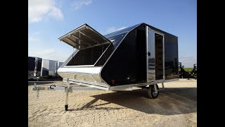 5. Snowmobile hybrid trailer