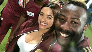 Andre Russell with wife Jassym Lora | West Indies VS England 2019 Cricket Series
