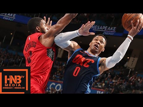 Oklahoma City Thunder vs Portland Trail Blazers Full Game Highlights / March 25 / 2017-18 NBA Season