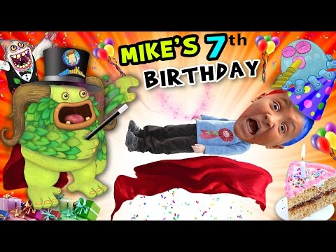 Mike's 7th Birthday! A Magically Monsterific Party Celebration! (FUNnel Vision B-Day Vlog) (видео)