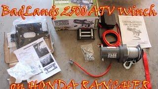 10. 2500 Badlands winch install on a Honda Rancher