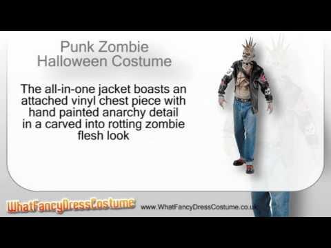 Punk Zombie Halloween Costume