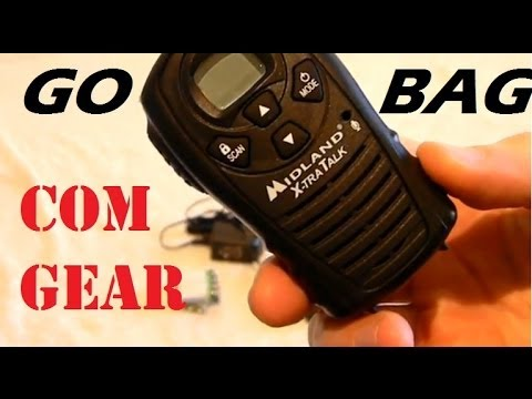 Bug-out Bag / Go Bag Survival Gear Review 6 of 10:  Communication Gear, Walkie-Talkies