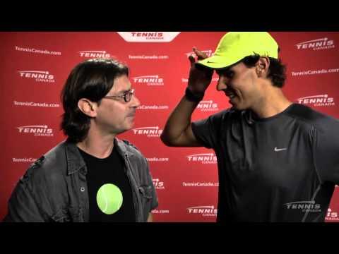 Coupe Rogers 2013: Capsule de Jean-René Dufort avec Rafael Nadal.