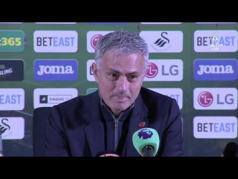 Jose Mourinho Post Match Press Conference   Swansea 1 3 Manchester United