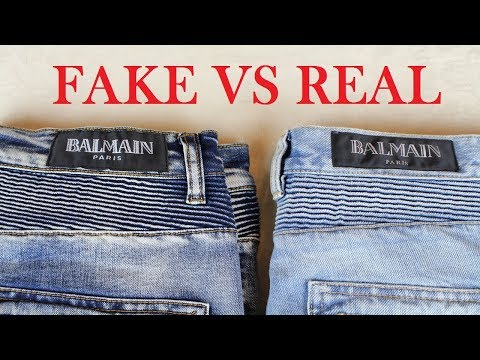 Real vs Fake Balmain Jeans | Authentic vs Replica Balmain Comparison