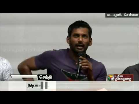 Actor-Vishal-Press-Meet-And-Regarding-ThiruttuVCD-at-Vadapalani-Chennai
