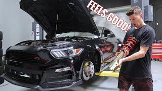 Mustang GT gets LOW & STIFF! (Full Roush kit!) by TJ Hunt