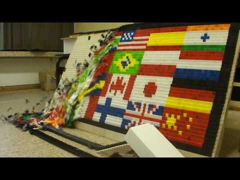 "Over 80,000 Dominoes – ""Around the World"" – Screenlink"