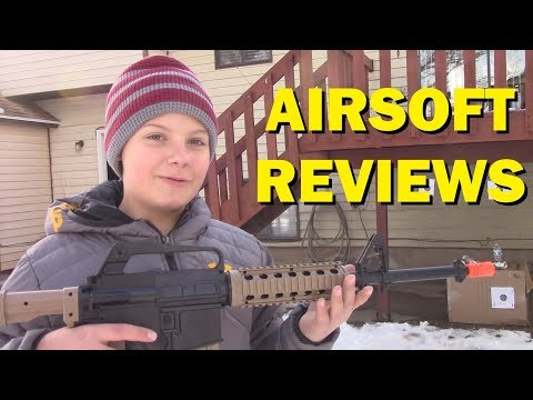 Airsoft Reviews - Colt M4a1 Ris Spring Rifle And Pistol