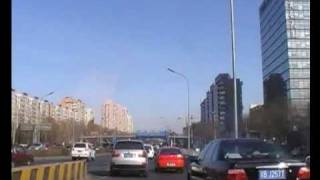 Time-lapse Great Wall walk and Beijing taxi