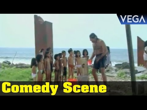 Maikavalan Tamil Movie || Meena Shoot a Suresh Gopi Bathing Comedy Scene