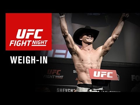 UFC Fight Night Gdansk: Official Weigh-in (видео)