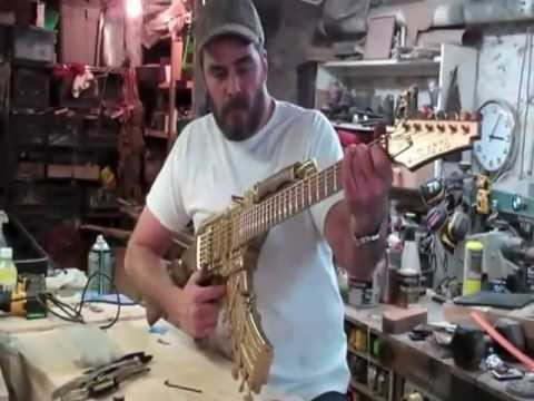 Making An AK47 Electric Guitar From Start To Finish