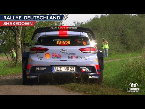 Rallye Deutschland Shakedown - Hyundai Motorsport 2017
