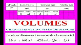 Maths 5ème - Volumes convertir d'unités de mesure Exercice 2