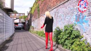 Crotch High Boots In Red