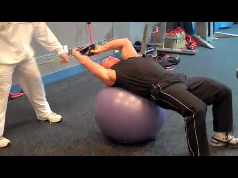 Lat Pullover With Tubing (Back exercise)
