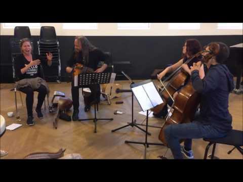 Eerste repetitie Fantasía para Violonchelo y Flamenco