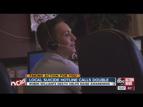 Actor - His suicide rocked the nation, but in the wake of Robin Williams death, ABC Action News has learned many local lives have been saved because of the attention put on suicide prevention -- specifical...