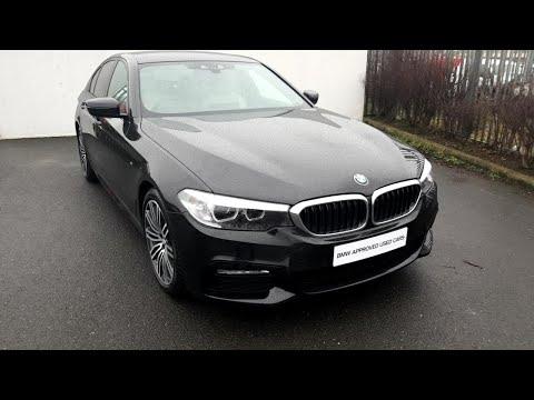 BMW 520D M Sport saloon black sapphire  D F
