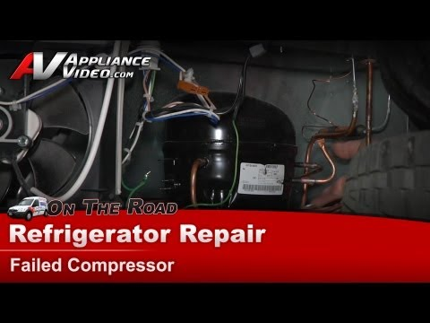 Maytag Refrigerator Repair – Failed compressor – MBF1953YEB3