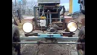 мини трактор из мотоблока.MP4