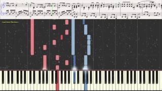 Песенка о снежинке (Ноты и Видеоурок для фортепиано) (piano cover)