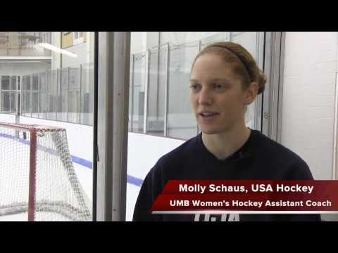UMass Boston Women's Hockey Assistant Coach Molly Schaus Prepares For The 2014 Olympics