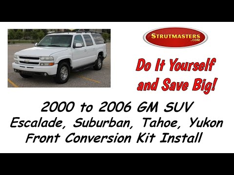 Front Air Shock Conversion Installation For The  2000-2006 GMC Yukon By Strutmasters