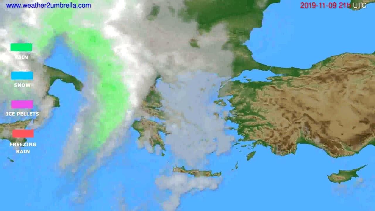 Precipitation forecast Greece // modelrun: 00h UTC 2019-11-08
