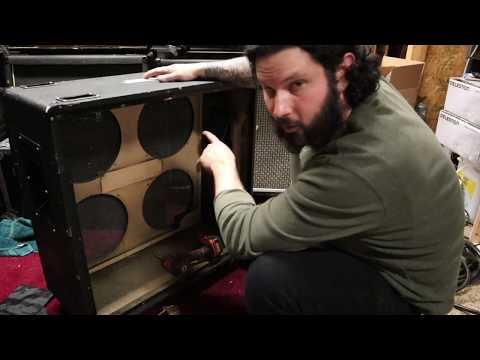 Repair blog 001: Changing grill cloth, speakers, casters and repairing handles on a Marshall cab