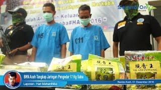 BNN Aceh Temukan 17 Kg Sabu dari Kemasan Teh China