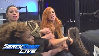 Charlotte Flair And Becky Lynch Brawl At Wwe Performance Center  Smackdown Live  Oct  23  2018