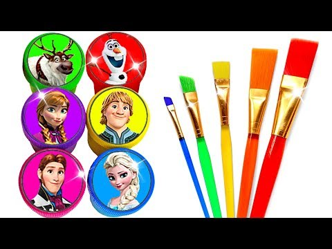 Glitter Drawing & Coloring Ideas with Disney's Frozen Characters