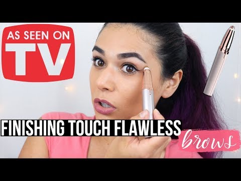 AS SEEN ON TV: FINISHING TOUCH FLAWLESS BROWS Review & Demo