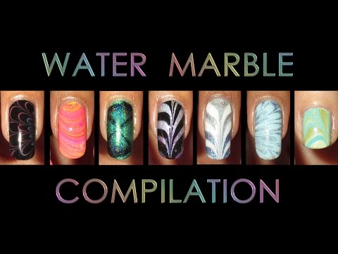 Nail Art Compilation | Water Marble March 2017 (видео)