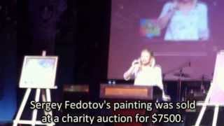 Sergey Fedotov's painting was sold at auction in Moscow for $7500.