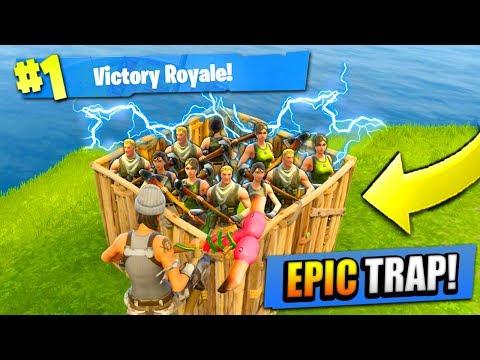 EPIC 50 vs 50 TRAP in Fortnite: Battle Royale!