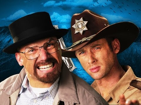 Rick Grimes vs Walter White.  Epic Rap Battles of History Season 3. (видео)