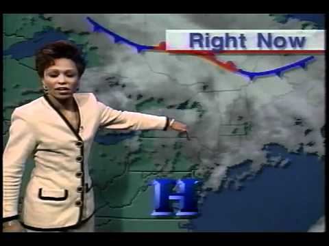 Veronica Johnson - Veronica Johnson retro while at ABC7 NYC in a white black trim, sportscaster (guy) seems very...