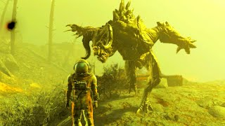 FALLOUT 4 Killing a Level 45+ Deathclaw!