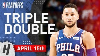 Ben Simmons Triple-Double Full Game 2 Highlights vs Nets 2019 NBA Playoffs - 18 Pts, 12 Ast, 10 Reb!