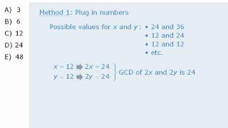 GMAT Prep - Math Practice Question - Integer Properties - The Greatest Common Divisor Is 12