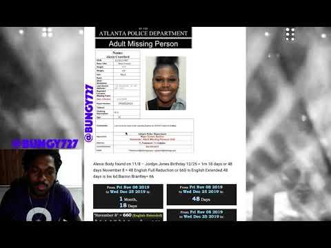 Alexis Crawford Body found DECODED November 8th Jordyn Jones & Barron Brantley