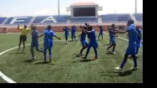 Primeiro treino na Academia Futebol de Angola.