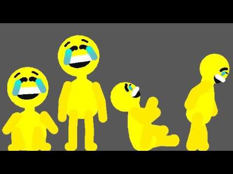 Laughing crying emoji man (stick nodes)