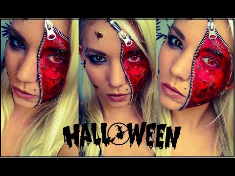 Zipper Face | Halloween Makeup