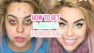 ACNE FOUNDATION ROUTINE FOR FLAWLESS SKIN (FULL COVERAGE TUTORIAL) I Nicole Matthews I - YouTube